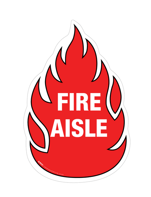 Fire Aisle Floor Sign