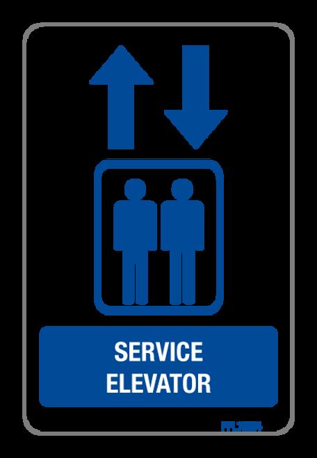 Service Elevator Label PPL10254
