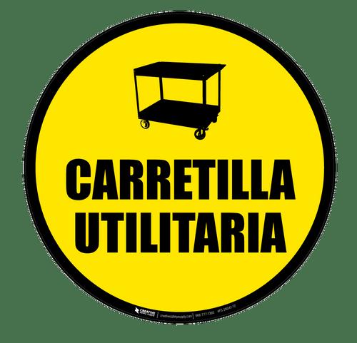 Carretilla Utilaria (Floor Cart) - Floor Sign