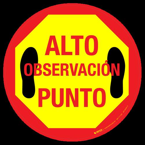Alto Observación Punto Floor Sign