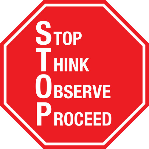 Stop Sign - S.T.O.P. Floor Sign