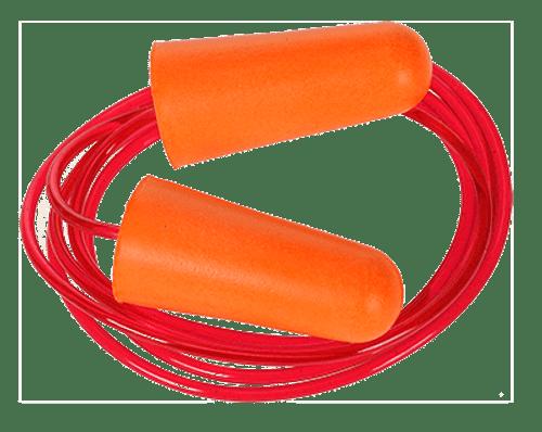 Corded PU Foam Ear Plug (200 pack)