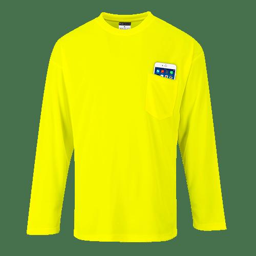 Long Sleeve Pocket T-Shirt, Yellow