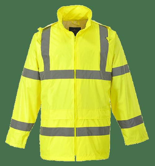 Hi-Vis Rain Jacket, Yellow