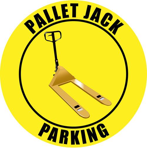 Pallet Jack Parking (Yellow) - Floor Sign