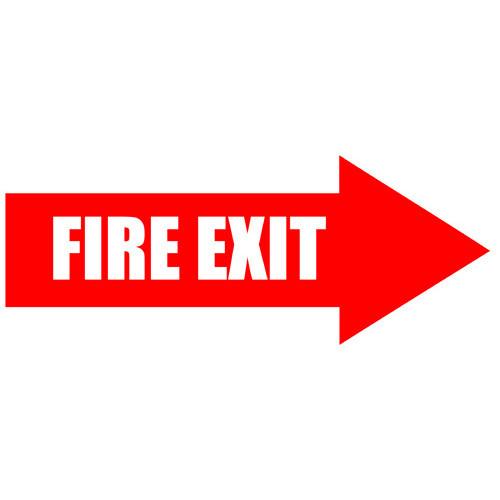Fire Exit Arrow Floor Sign