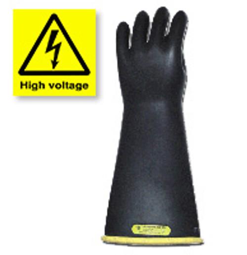 Long High Voltage Rubber Work Gloves