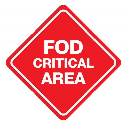 FOD Critical Area Type B (Floor Sign)
