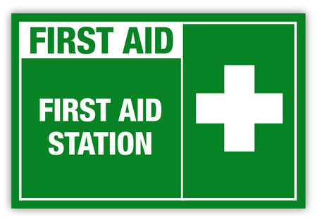 First Aid Station Label Creative Safety Supply