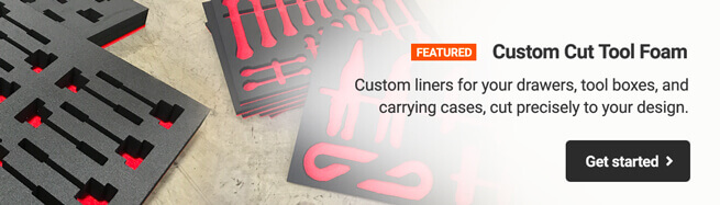 Custom Cut Tool Foam - Custom liners for your drawers, toolboxes, and carrying cases, cut precisely to your design.