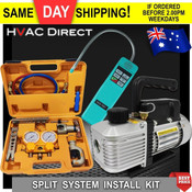 HVAC Refrigeration Install Kit - Vacuum Pump -Leak Detector -HVAC Tool Kit +WT-2