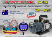 Split and A/C Install Kit, Vacuum Pump, Digital Vacuum Gauge, R410a Manifold kit