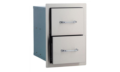56985 Stainless Steel Double Drawer