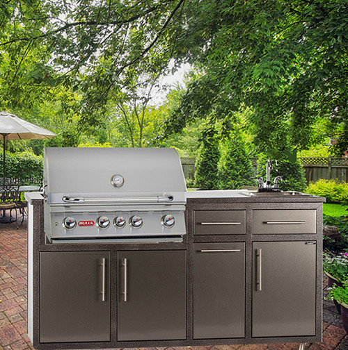 "32S-P7 Outdoor Kitchen w/sink & 32"" Grill Cutout  (Grill Sold Separately)"