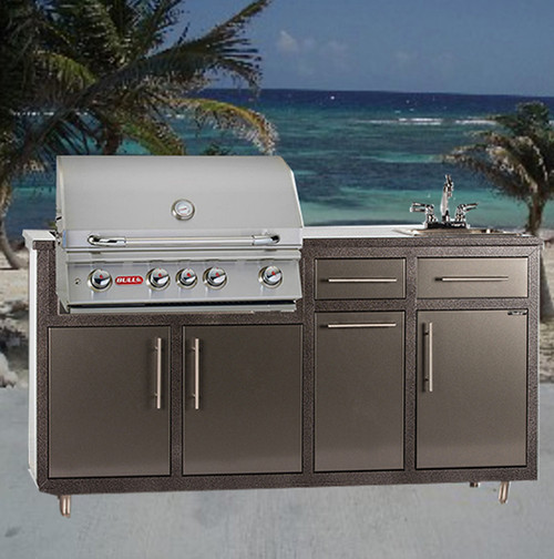 "32S-S2 Outdoor Kitchen w/sink & 32"" Grill Cutout  (Grill Sold Separately)"