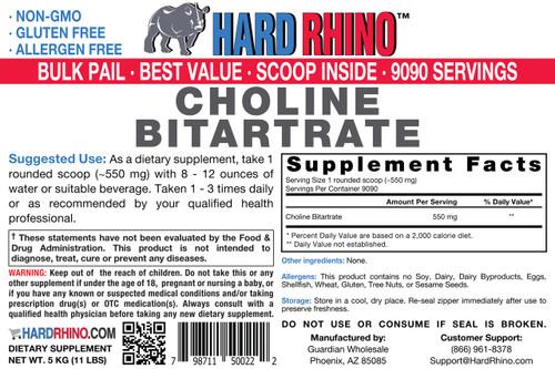 BULK Choline Bitartrate Powder