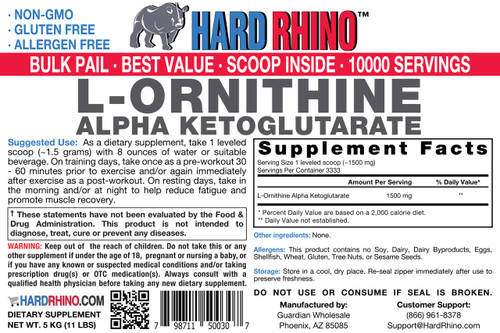 BULK L-Ornithine Alpha Ketoglutarate (OKG) Powder