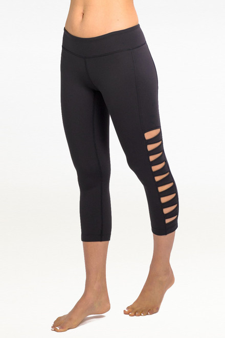 """My all time favorite piece from KG is the Warrior Tough Cut Legging. They are super sexy, perfectly edgy, and so comfortable. I get compliments every time wear them."" - Marni Sclaroff Black Warrior Tough Cut Out Leggings"