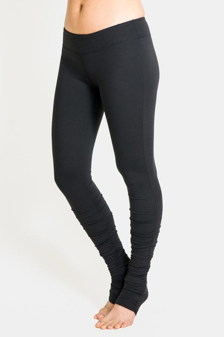 Black Flirt Skinny Yoga Tight Leggings Over the Heel