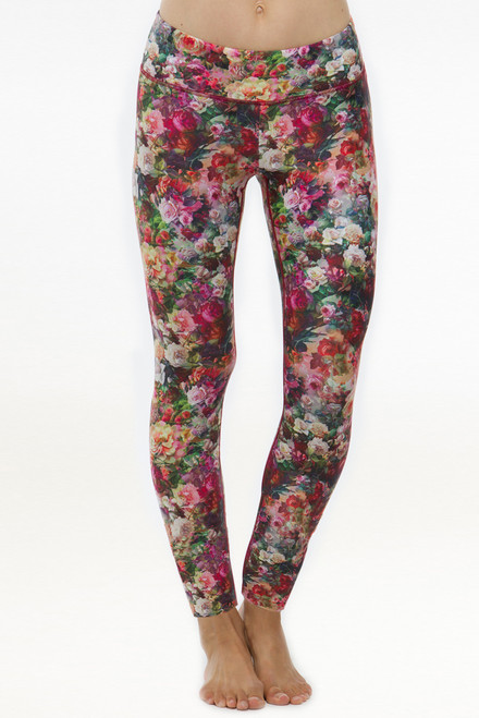 Rose Flower Patterned Grace Yoga Tight Leggings
