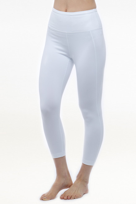 White High Waist Yoga Capris Leggings