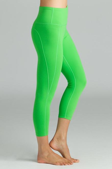 Green High Waist Yoga Capris Leggings