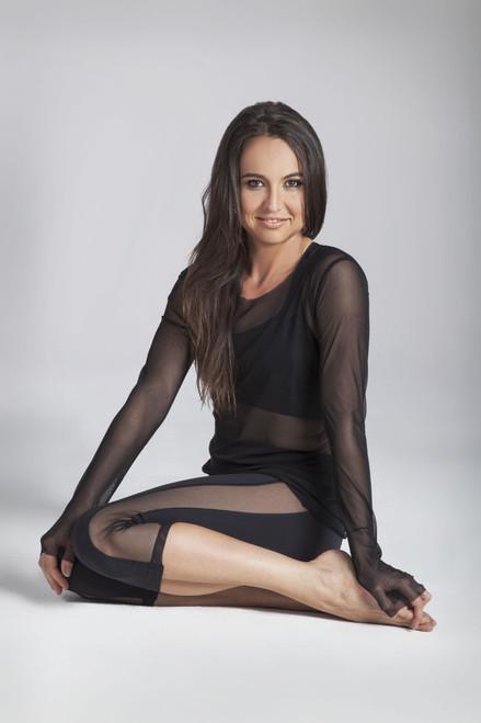Black Yoga Mesh Leggings