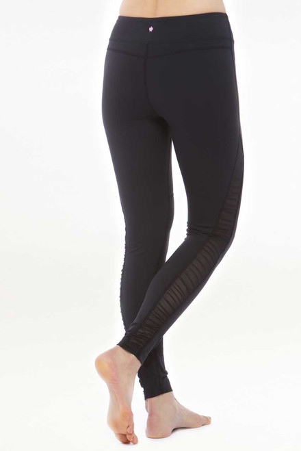 KiraGrace Goddess Siren Mesh Yoga Tight in Black back