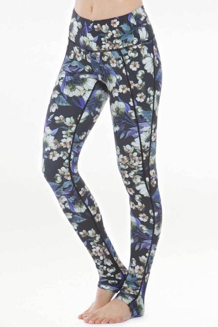 KiraGrace Siren Floral Printed Ruched Yoga Legging front