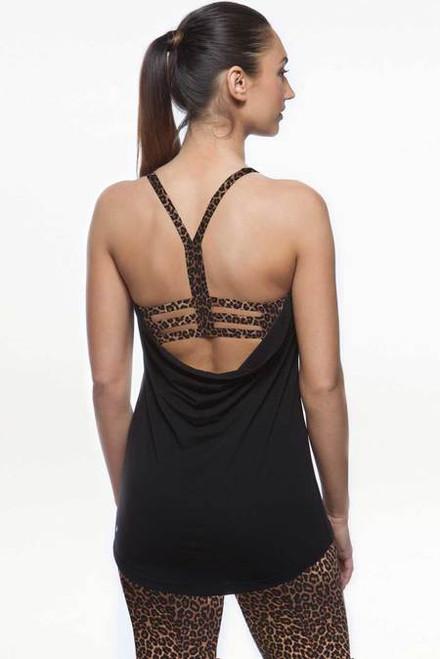Grace En Pointe Y-Back (Black/Dark Leopard)