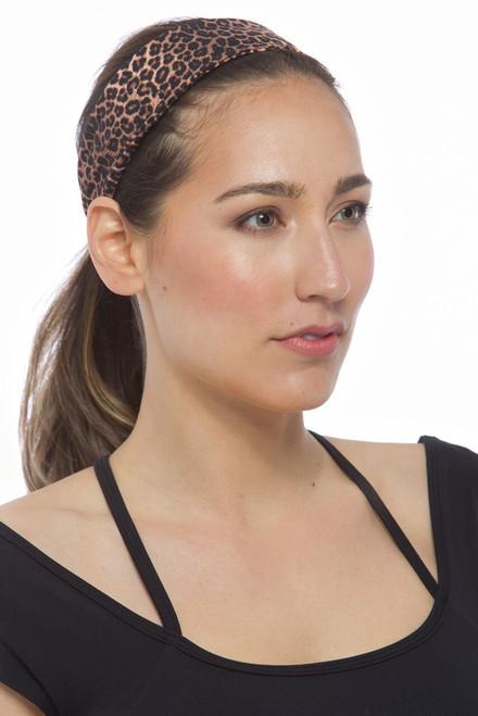 The Flirt Headband (Dark Leopard Leopard)
