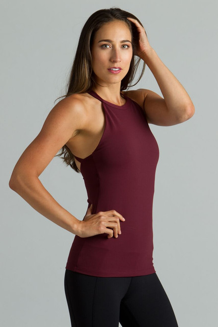 Grace Yoga Halter (Bordeaux)