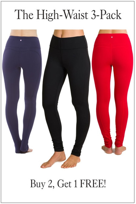 The KiraGrace High-Waisted Yoga Legging 3-Pack