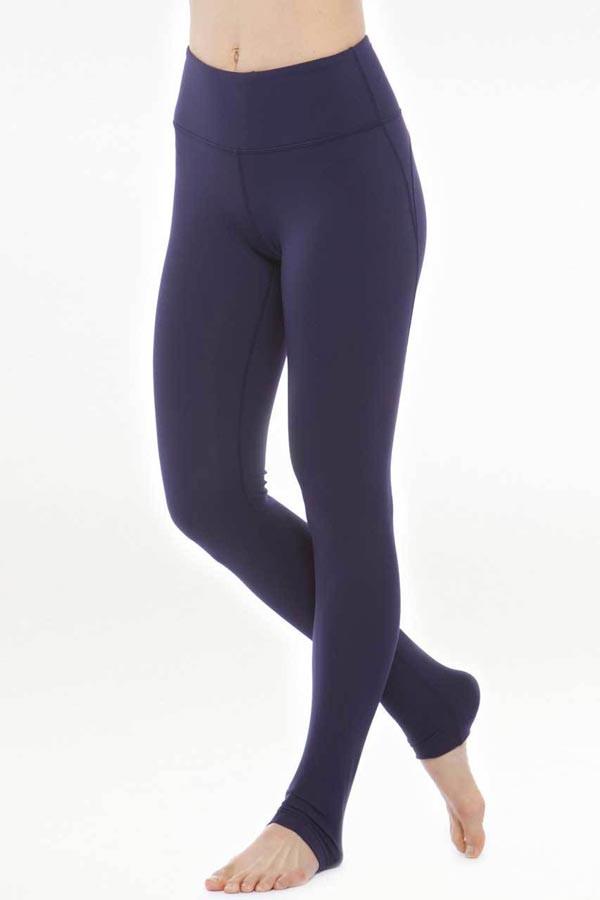 KiraGrace Glamour Goddes High Waisted Yoga Legging in Navy front