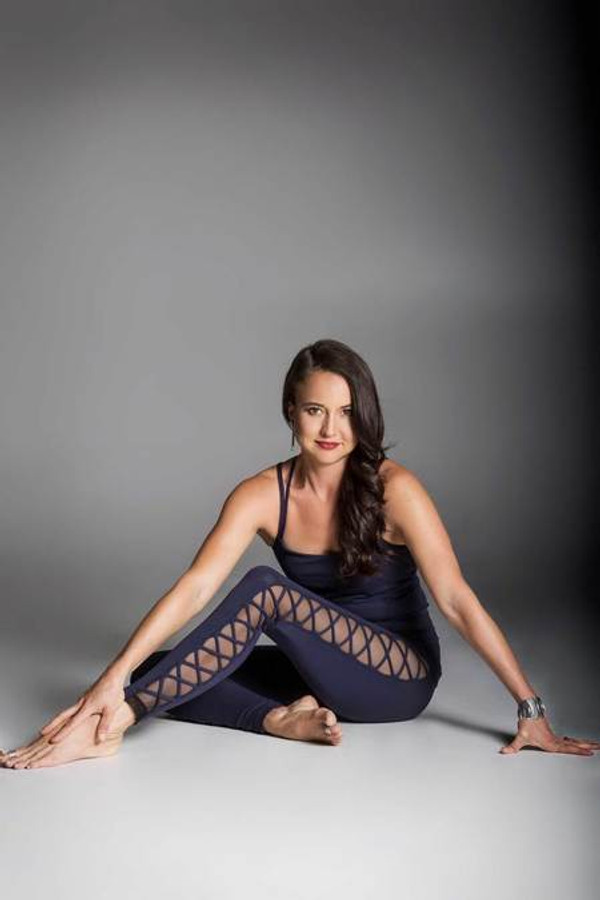 Navy Romance Lace Up Legging sexy yoga outfit