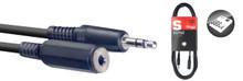Stagg SAC3MPSMJS 3m Audio Cable Mini Jack Male to Mini Jack Female