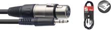 Stagg SAC3MPSXF 3m Audio Cable XLR Female to Mini Jack
