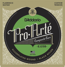 D'Addario EJ25B Pro-Arté Black Nylon Composite Flamenco Strings