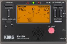 Korg TM60 Portable Combo Tuner Metronome - Black