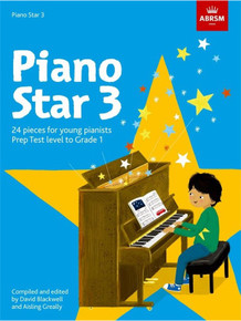 Piano Star 3 - 24 Pieces for Young Pianists. Prep Test Level to Grade 1