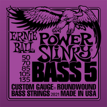Ernie Ball Power Slinky .050 - .135 Nickel Wound 5-String Bass Guitar Strings