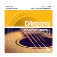 D'Addario EJ19 Light Top/Medium Bottom .012 - .056 Phosphor Bronze Acoustic Guitar Strings