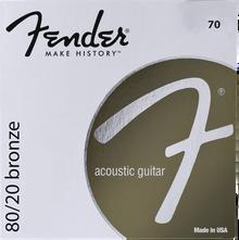 Fender 70L Light .012 - .052 80/20 Bronze Acoustic Guitar Strings
