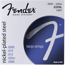 Fender 2255L Light .0095 - .020w Nickel-Plated Steel Banjo Guitar Strings