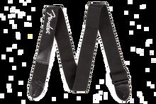 Fender Black Polyester White Logo Guitar Strap