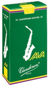 Vandoren Java Alto Saxophone Reeds Box of 10 - 1.5