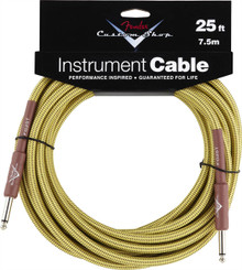 Fender Custom Shop Tweed Performance Series Instrument Cable - 25ft