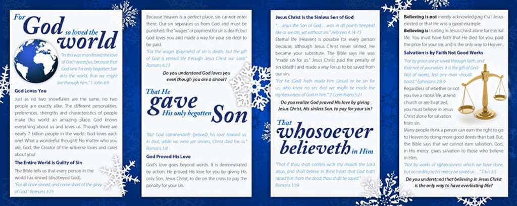 How Much Does God Love You? Snowflakes
