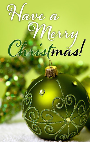 Have a Merry CHRISTmas-Green Bulb