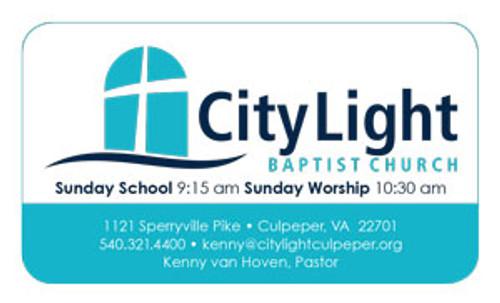 Business Card Church Invite